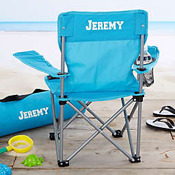 Toddler Personalized Blue Folding Camp Chair