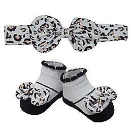 So 'dorable Leopard Headband and Bootie Set