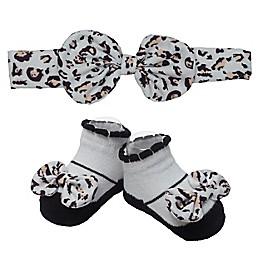So 'dorable Leopard Headband and Bootie Set