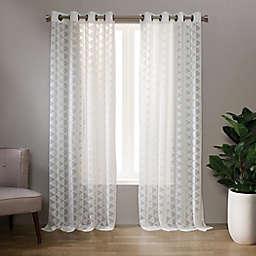 Landon 63-Inch Grommet Sheer Window Curtain Panel in White (Single)