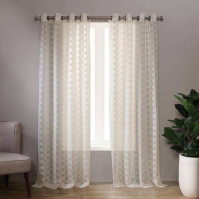 Alternate image 1 for Landon 95-Inch Grommet Sheer Window Curtain Panel in Linen (Single)