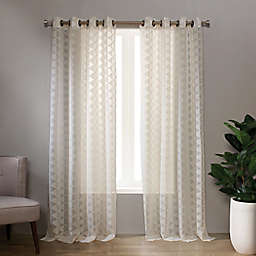Landon 95-Inch Grommet Sheer Window Curtain Panel in Linen (Single)