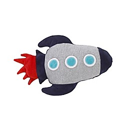 NoJo® Out of This World Rocket Oblong Throw Pillow in Navy