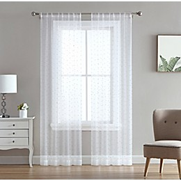 Marquee 2-Pack Rod Pocket Light Filtering Window Curtain Panels in Silver