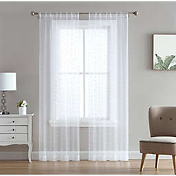 Marquee 2-Pack 84-Inch Rod Pocket Light Filtering Window Curtain Panels in Silver