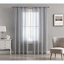 Cleo 2-Pack 84-Inch Rod Pocket Light Filtering Window Curtain Panels in Grey