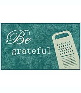 "Tapete decorativo ""Be Grateful"" color azul"
