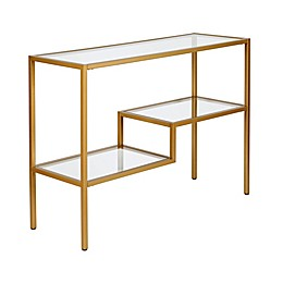 Lovett Console Table in Antique Brass