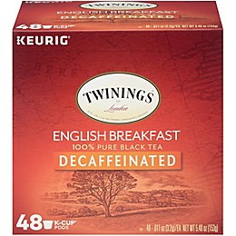 Twinings of London® Decaf English Breakfast Tea Pods for Single Serve Coffee Makers 48-Count