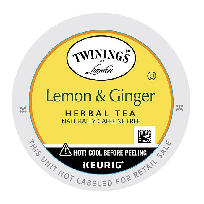 Alternate image 1 for Twinings of London® Lemon & Ginger Herbal Tea Keurig® K-Cup® Pods 18-Count