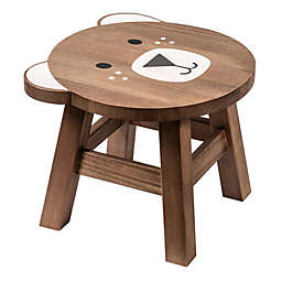 Prinz Bear Children's Wooden Stool