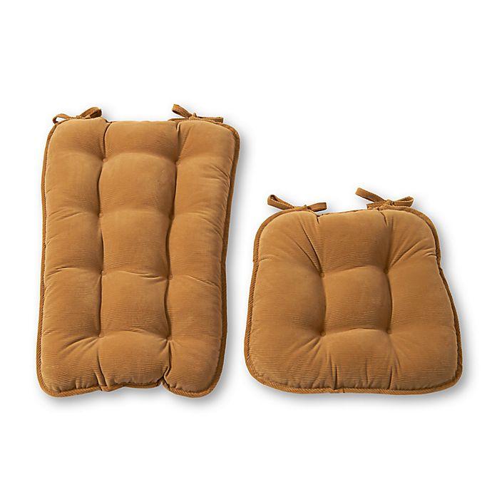 Alternate image 1 for Greendale Home Fashions Cherokee 2-Piece Jumbo Rocking Chair Cushion Set