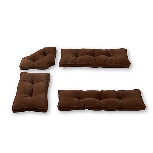 Alternate image 1 for Greendale Home Fashions Hyatt 4-Piece Nook Cushion Set in Scarlet