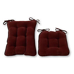 Greendale Home Fashions Cherokee 2-Piece Rocking Chair Cushion Set in Wine