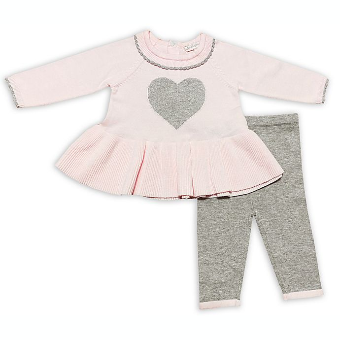 Alternate image 1 for Clasix Beginnings™ by Miniclasix® Newborn 2-Piece Knit Top and Pant Set in Pink