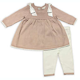 Clasix Beginnings™ by Miniclasix® Size 3M 2-Piece Sweater and Legging Set in Blush