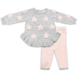 Clasix Beginnings™ by Miniclasix® 2-Piece Star Knit Top and Pant Set in Grey