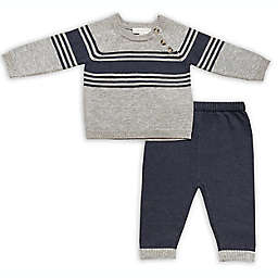 Clasix Beginnings™ by Miniclasix® Size 6M 2-Piece Stripe Knit Sweater and Pant Set