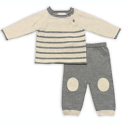 Clasix Beginnings™ by Miniclasix® Newborn 2-Piece Stripe Sweater and Pant Set in Grey