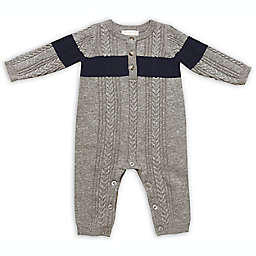 Clasix Beginnings™ by Miniclasix® Newborn Stripe Sweater Footie in Grey