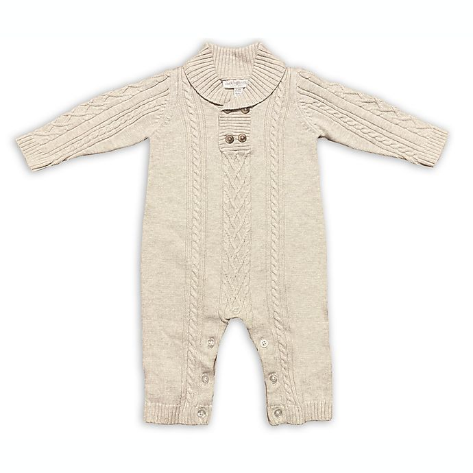 Alternate image 1 for Clasix Beginnings™ by Miniclasix® Cable Stitch Coverall in Oatmeal