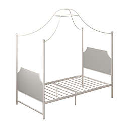 Little Seeds Monarch Hill Clementine Twin Canopy Bed in White