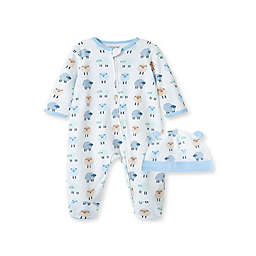 Little Me® 2-Piece Dotty Lambs Footie and Hat Set in White