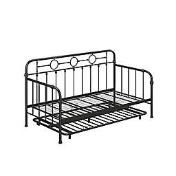Little Seeds™ Willow Twin Metal Daybed with Trundle in Black