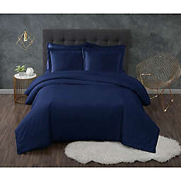 Truly Calm® Antimicrobial 3-Piece Full/Queen Duvet Set in Navy