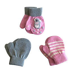 Toby Fairy™ 3-Pack Koala Gripper Mittens in Mauve