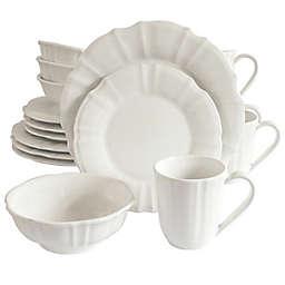 Euro Ceramica Chloe Dinnerware Collection in White