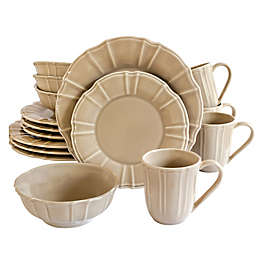 Euro Ceramica Chloe Dinnerware Collection in Taupe