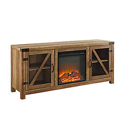 Forest Gate 58-Inch Glass Door Electric Fireplace Console