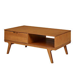 Forest Gate™ Diana Solid Wood 1-Drawer Coffee Table in Caramel