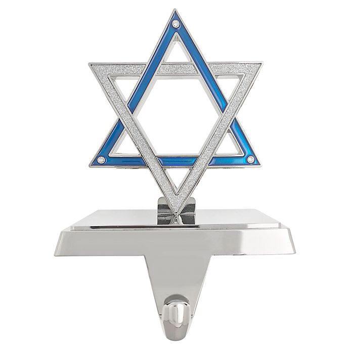 Alternate image 1 for Harvey Lewis™ Star of David Hanukkah Stocking Hanger with Crystals from Swarovski®