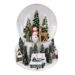 Large Christmas Village Musical Snow Globe