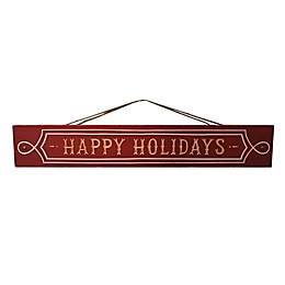 Happy Holiday Rectangular Sign