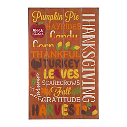 Glitzhome® Word Sign Hanging Thanksgiving Decoration in Orange