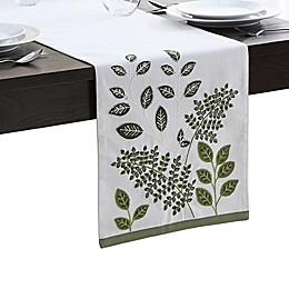 Elrene Botanical Leaves Table Runner in Green