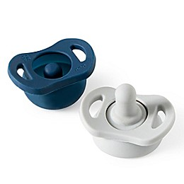 Doddle & Co.® 2-Pack Pop and Go Pacifiers in Navy/Grey