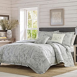 Tommy Bahama® Floreanna 5-Piece Reversible Comforter Set in Grey