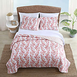 Tommy Bahama® Sunset Reef 3-Piece Reversible Quilt Set in Sorbet