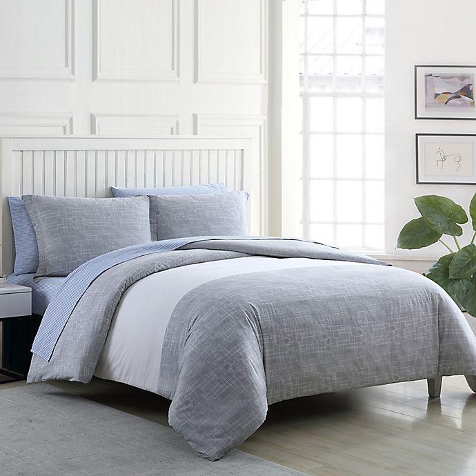 Alternate image 1 for Poppy & Fritz® Connery Stripe Comforter Set in Grey