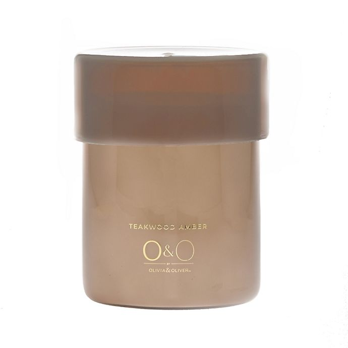 Alternate image 1 for O&O by Olivia & Oliver™ Teakwood Amber Jar Candle Collection
