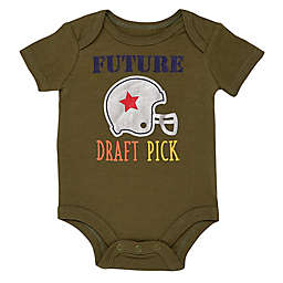 "Baby Starters® Newborn ""Future Draft Pick"" Bodysuit in Olive"