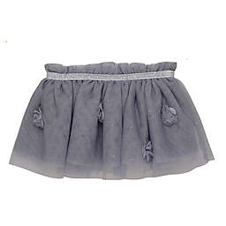 Baby Starters® Newborn Tutu Skirt in Light Grey with 3D Flowers