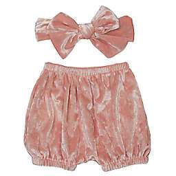 So'dorable 2-Piece Crush Velvet Diaper Cover and Headband Set