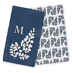 Pressed Fern Monogram Tea Towel Set