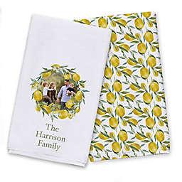 Family Lemon Wreath Tea Towel Set