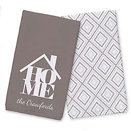 Home Icon and Name Tea Towel Set